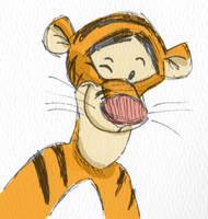 Disney quick sketch: Tigger by WulfFather