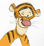 Disney quick sketch: Tigger