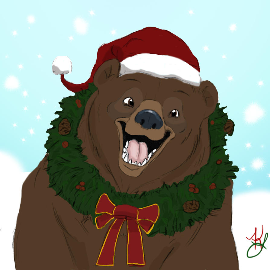 A Christmas Bear by WulfFather on DeviantArt