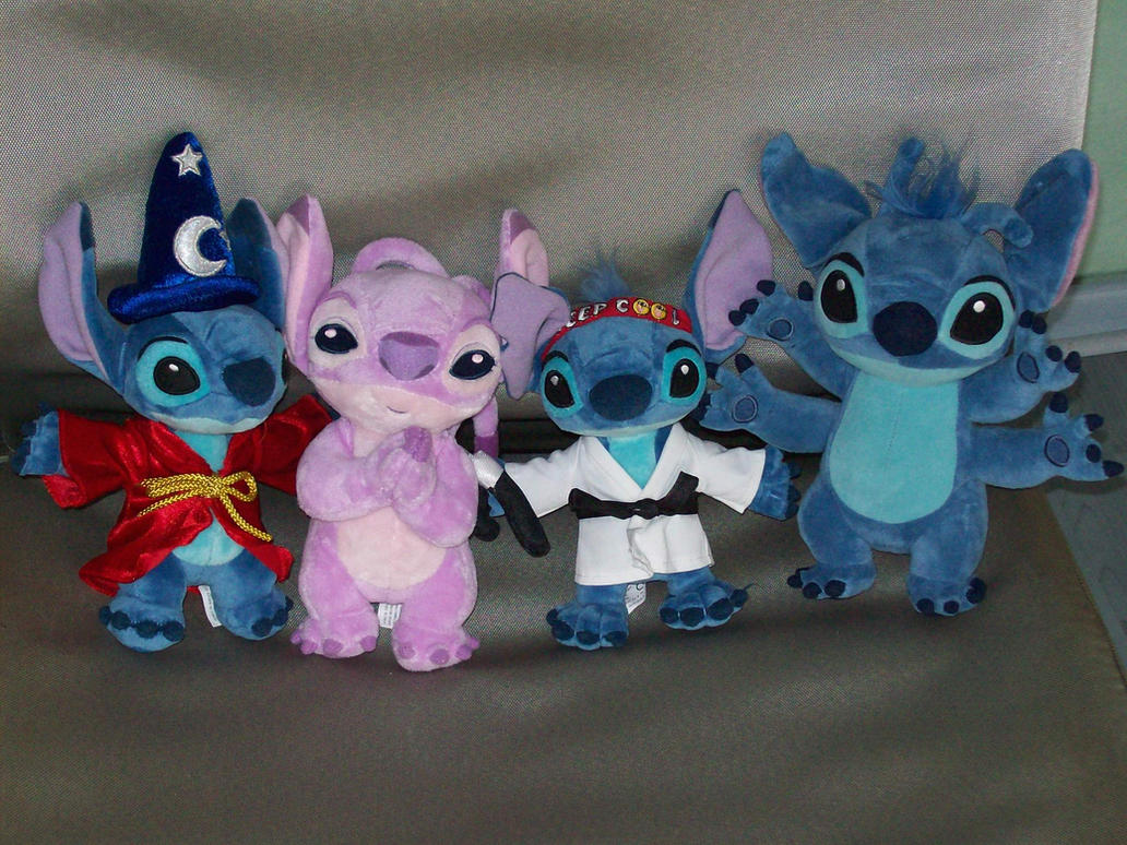 Stitch Plushies, and Angel. by NeoseekerStitch
