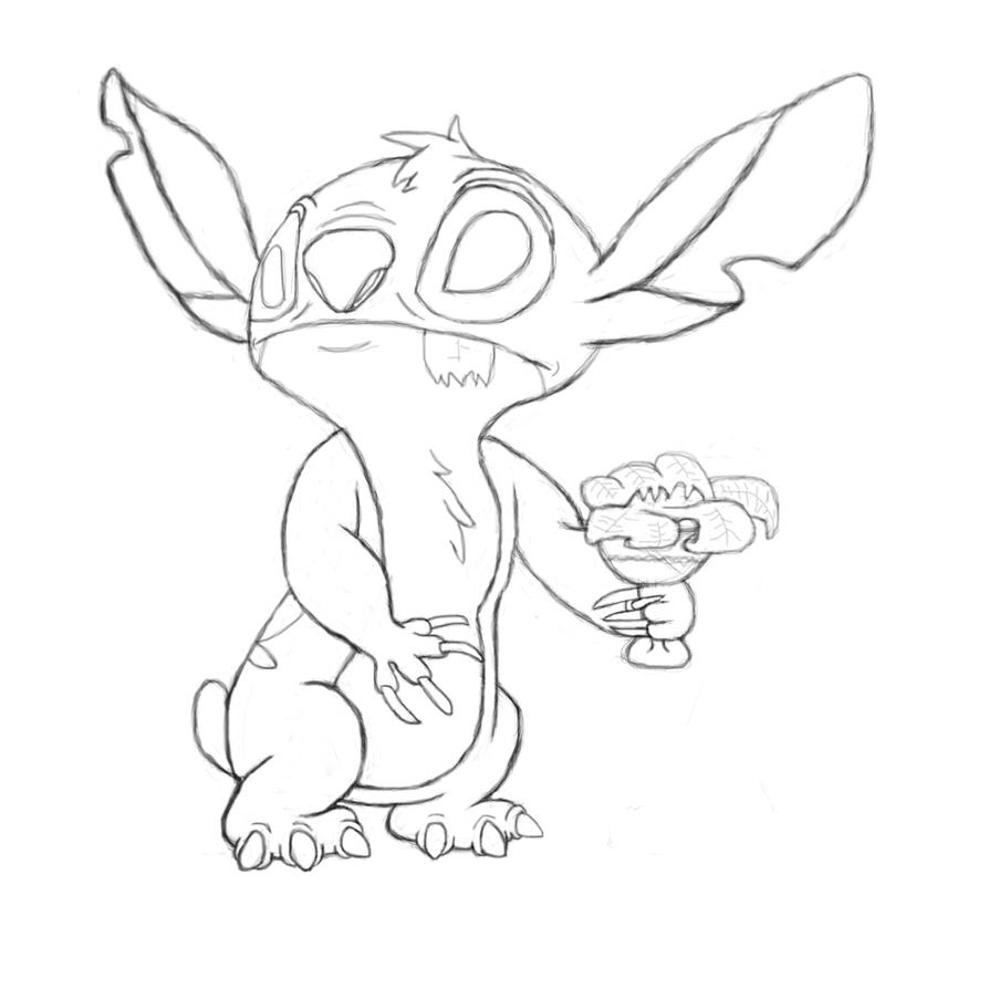 Stitch Dream Glimps sketch by NeoseekerStitch