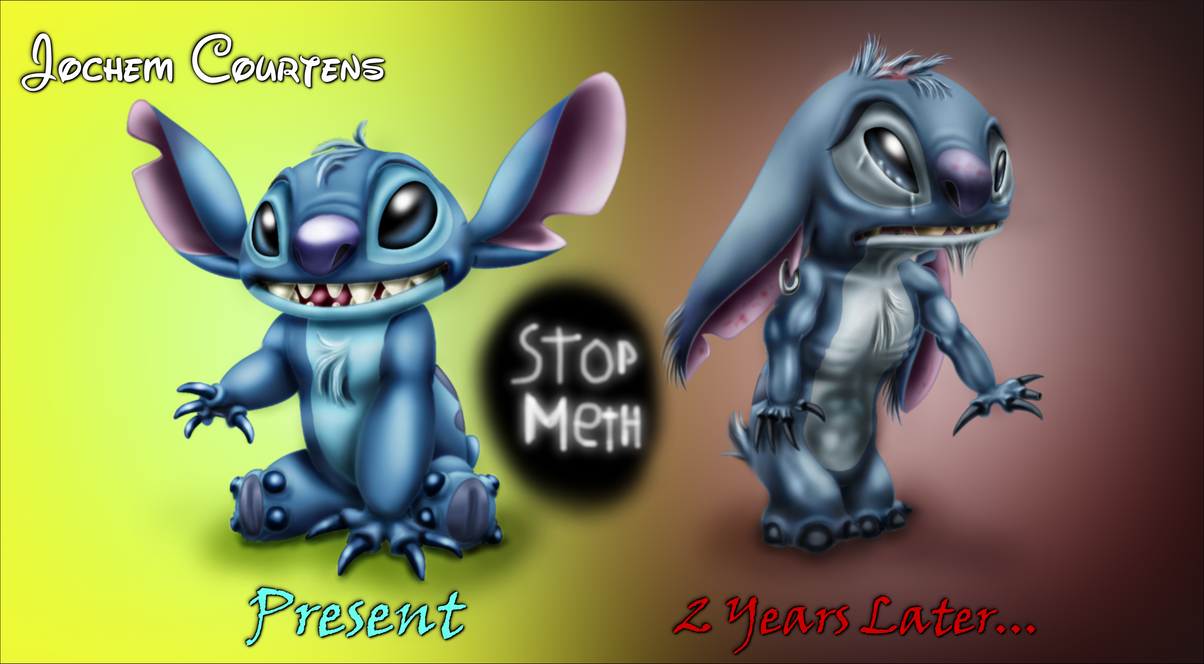 Stitch Before and After Meth. by NeoseekerStitch