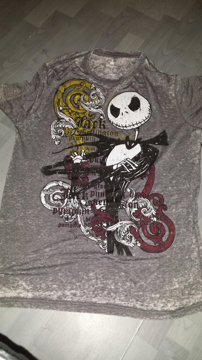 Bought a Jack Skellington T-shirt. by NeoseekerStitch