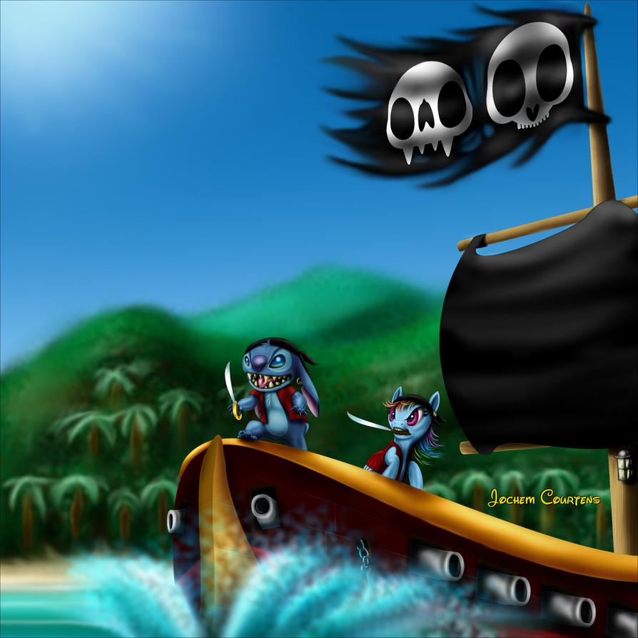 Pirate Stitch And Dash by NeoseekerStitch