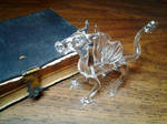 Glass Dragon with Bible