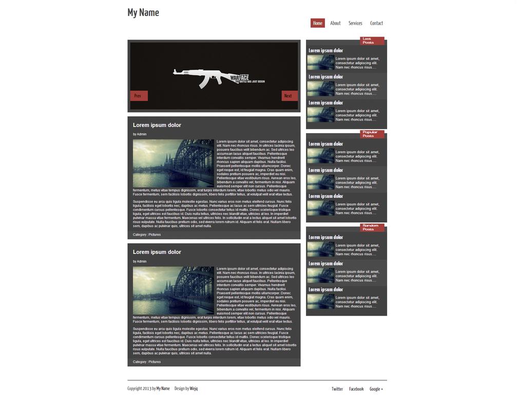 My blog ( Templates HTML/CSS) by wejq on DeviantArt