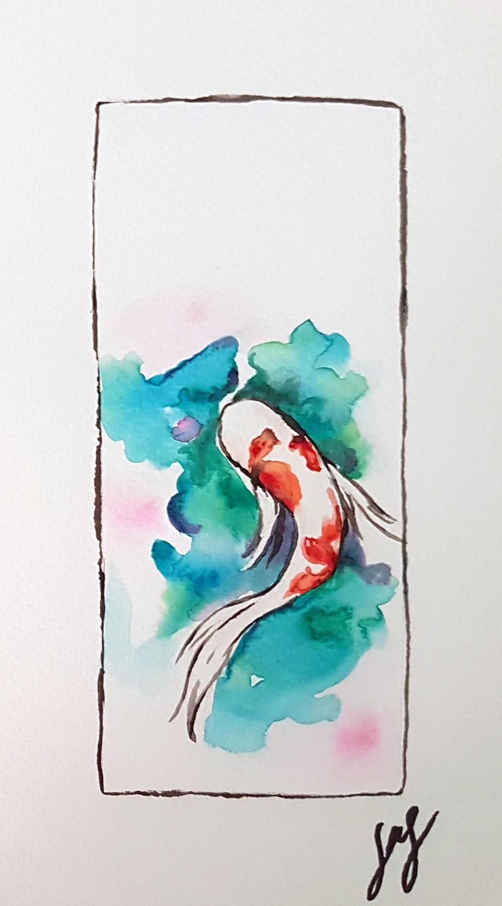 Koi Fish Watercolor By Rikku Hime On Deviantart