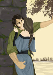 Robert groping Lyanna for Moto by InTheArmsOfUndertow