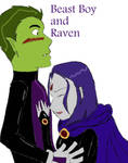 Beast Boy and Raven by ApprenticeOfGaga