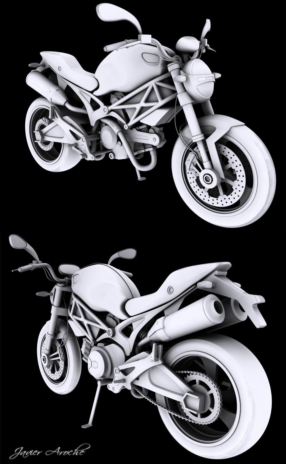Ducati Monster 696 WIP by aroche