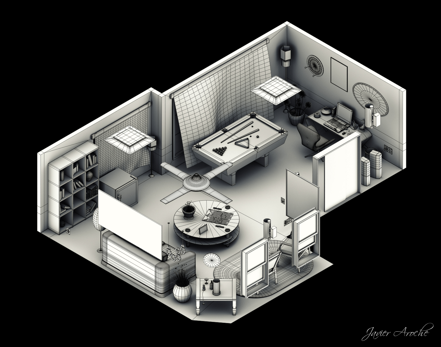 Interior Isometric by aroche on DeviantArt