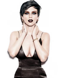 Scarlett Johansson Enhanced Goth