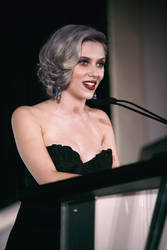 Gothy Scarlett Johansson at the Mic by imyourpusherman