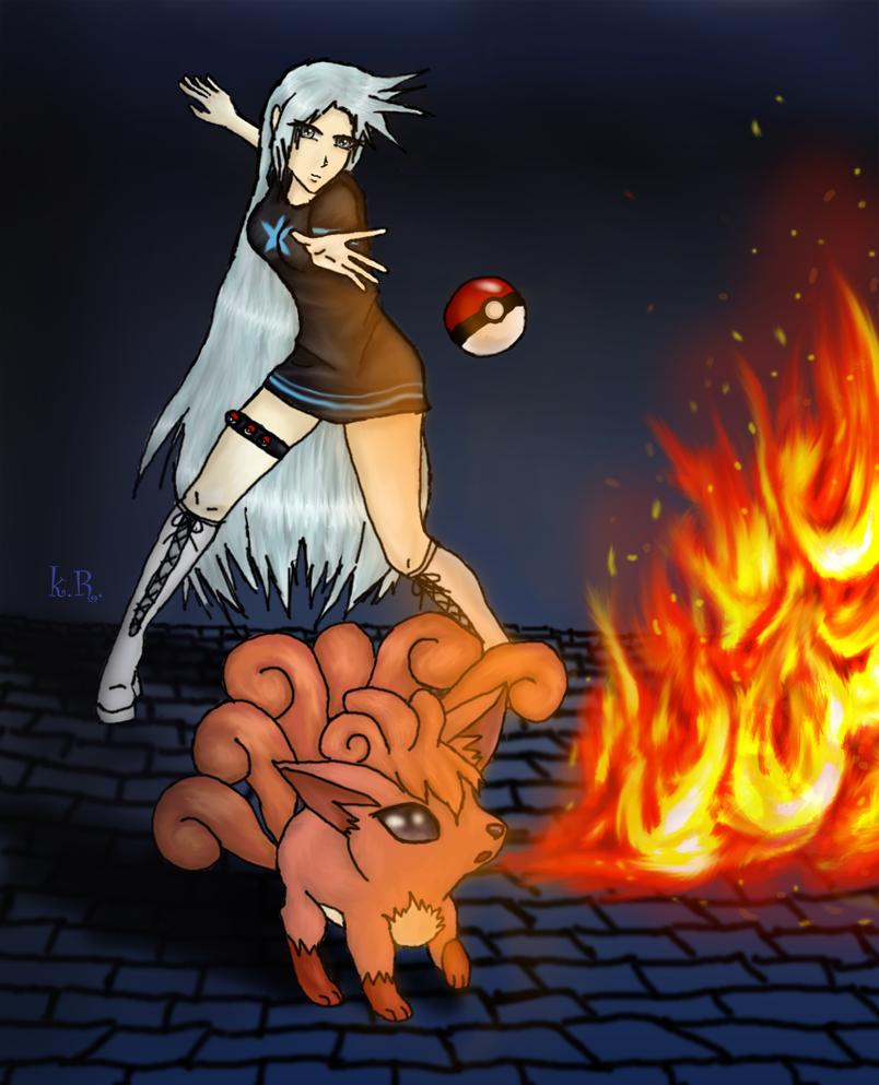 Pokemon OC - Sylvie and Liuwa by KalineReine