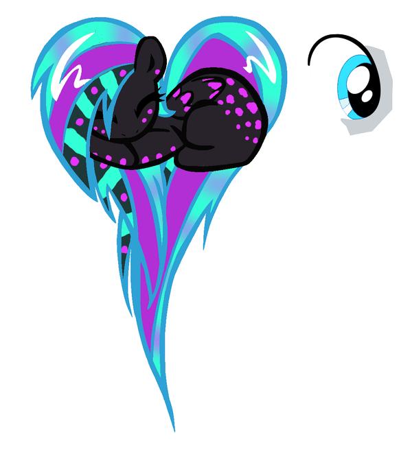 Neon Purple Custom Pegasus by KalineReine