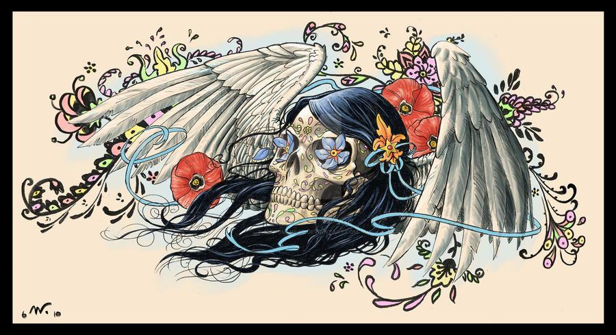 Sugar Skull Tattoo by Shinolahead