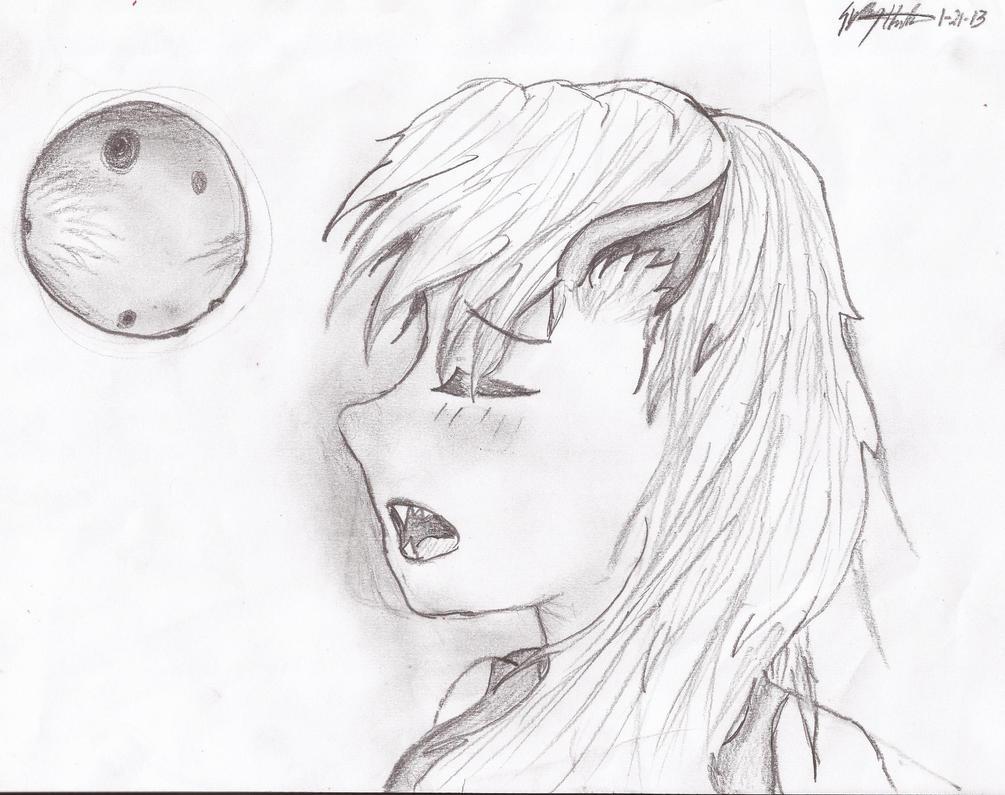 Beautiful Anime Wolf Girl By SydyShada
