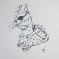 Inktober 2018 - Day 5 - Chicken