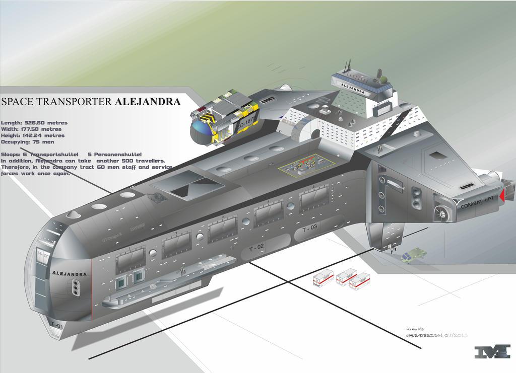 Transporter alejandra space art design by masch artdesign for Space art design
