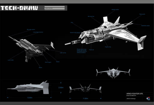 Tech-Draw Wing Fighter 57R