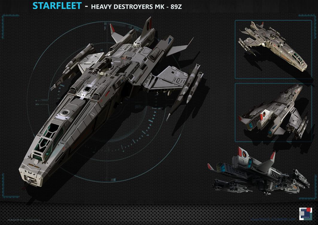 Spaceship - Heavy Destroyer MK89Z by MASCH-ARTDesign