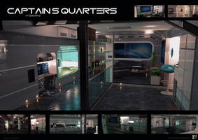 CAPTAINS QUARTERS on Spaceship by MASCH-ART