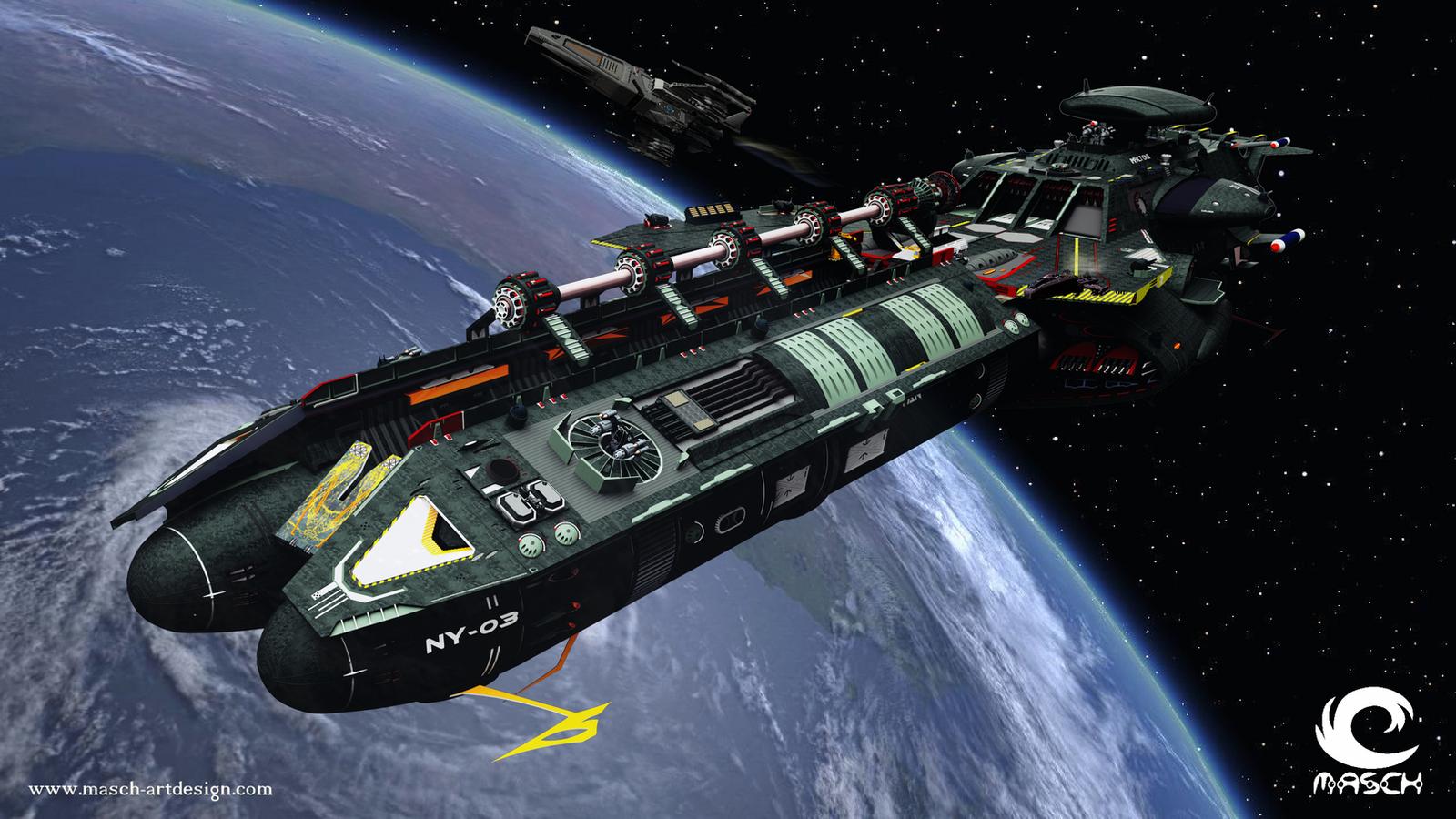 Space carrier by MASCH-ARTDesign on DeviantArt