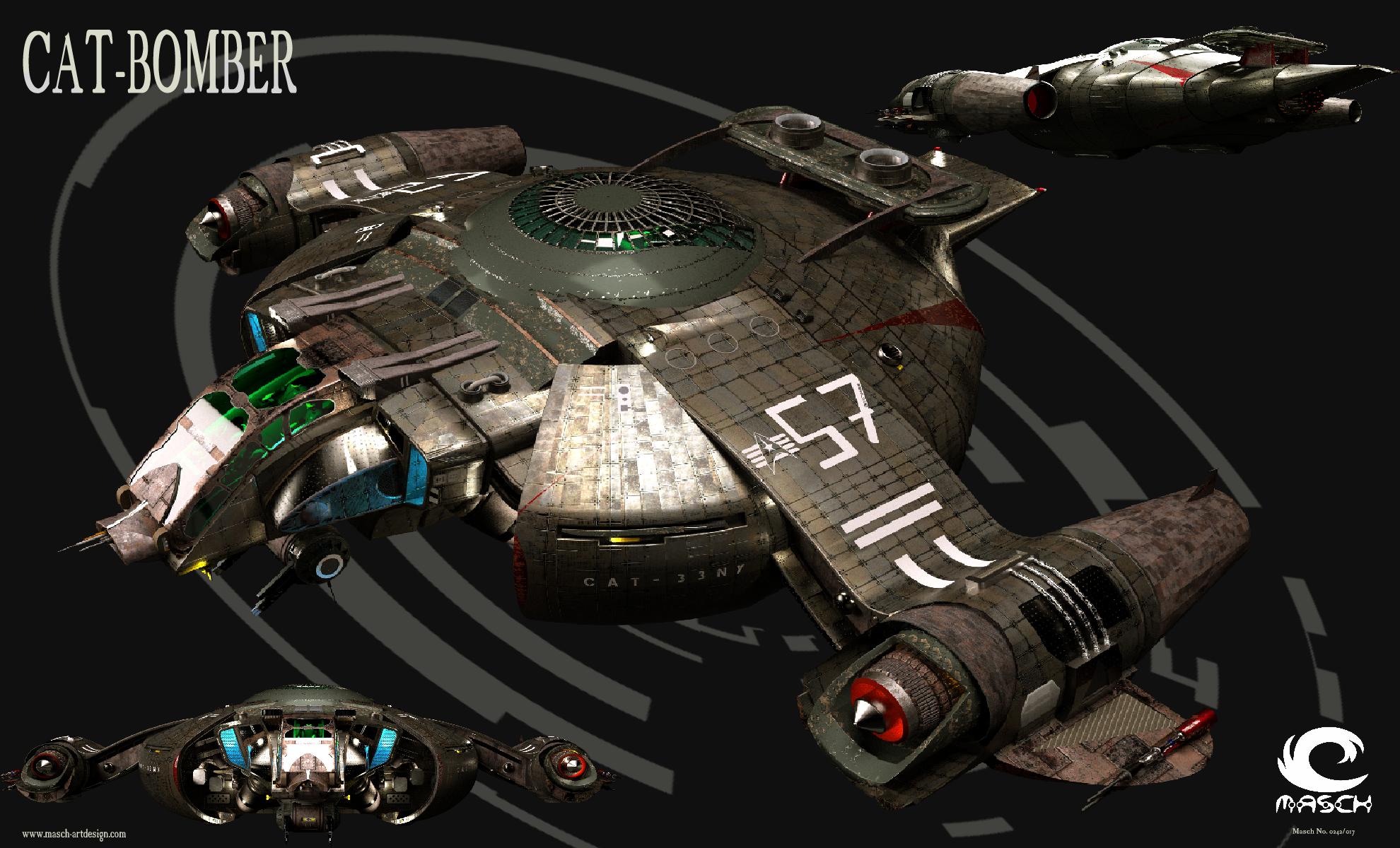 3D Spaceship RAPID-Bomber by MASCH-ARTDesign on DeviantArt