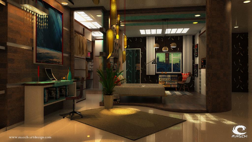 Architekturvisualisierung Innenraum by MASCH-ARTDesign