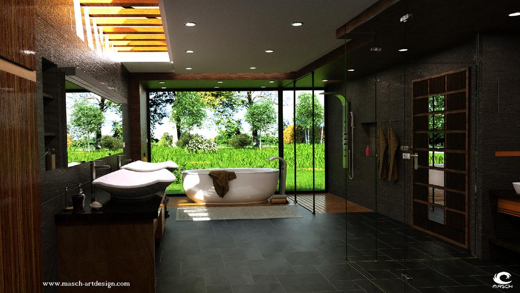 Architektur Visualisierung - Das Badezimmer by MASCH-ARTDesign