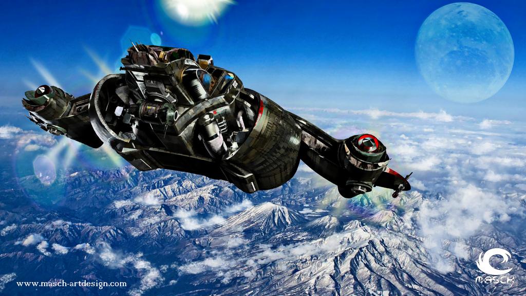 Spaceship - SKY Fly by MASCH-ARTDesign