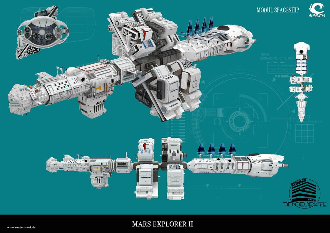 Spaceship Mars-Explorer II by MASCH-ARTDesign
