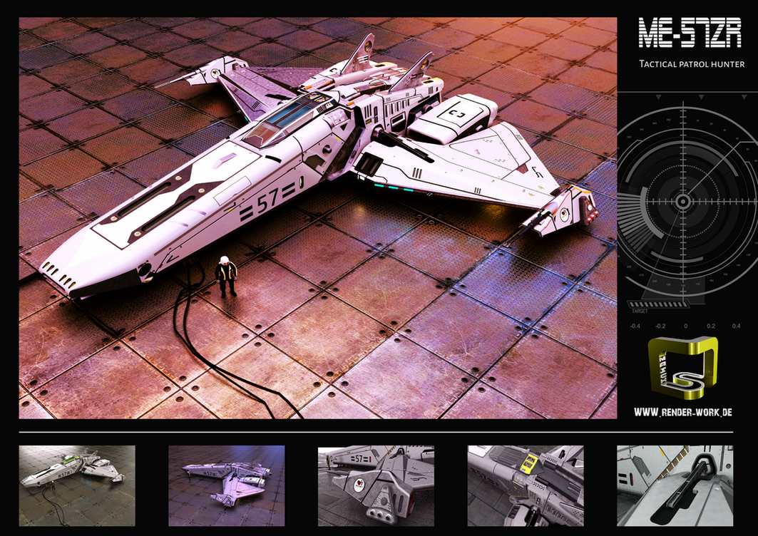 Space Ship ME-56ZR by MASCH-ART