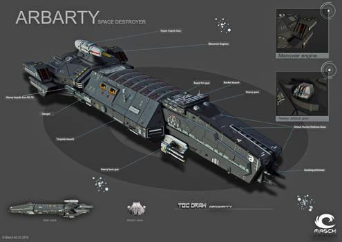 Space Destroyer Arbarty Tec Draw