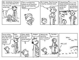 Calvin and Hobbes: Smells by BBallGirl2009