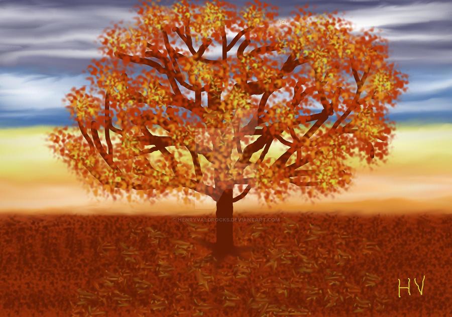 Autumn Tree. 2012. by HenryValdROCKS