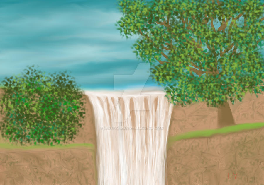 Waterfall. (requested) by HenryValdROCKS