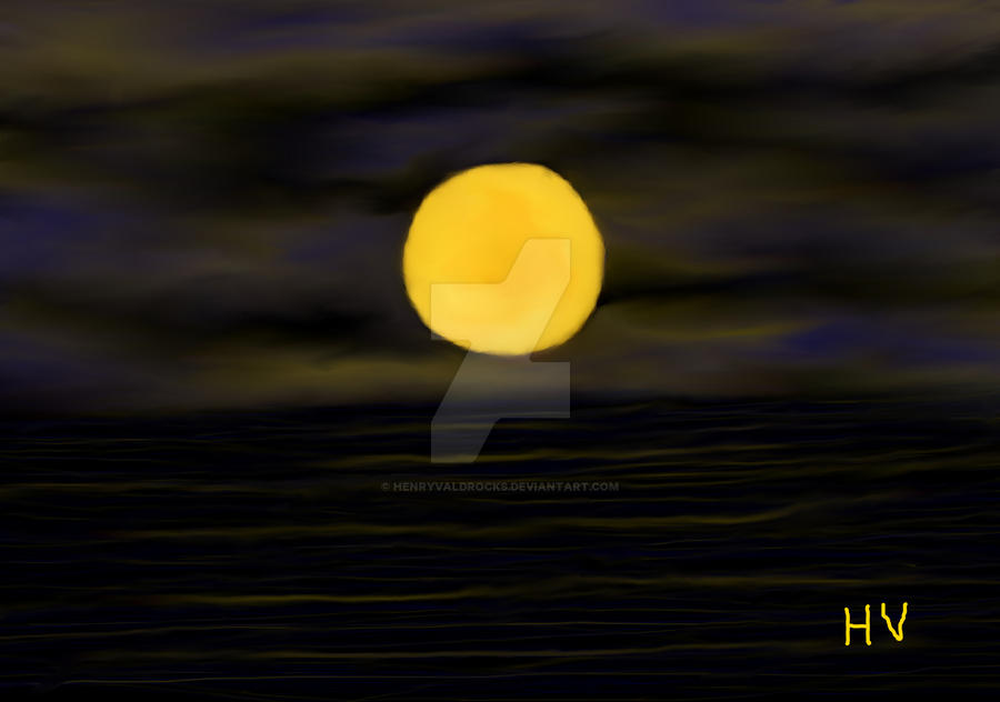 Moonlight Beach by HenryValdROCKS