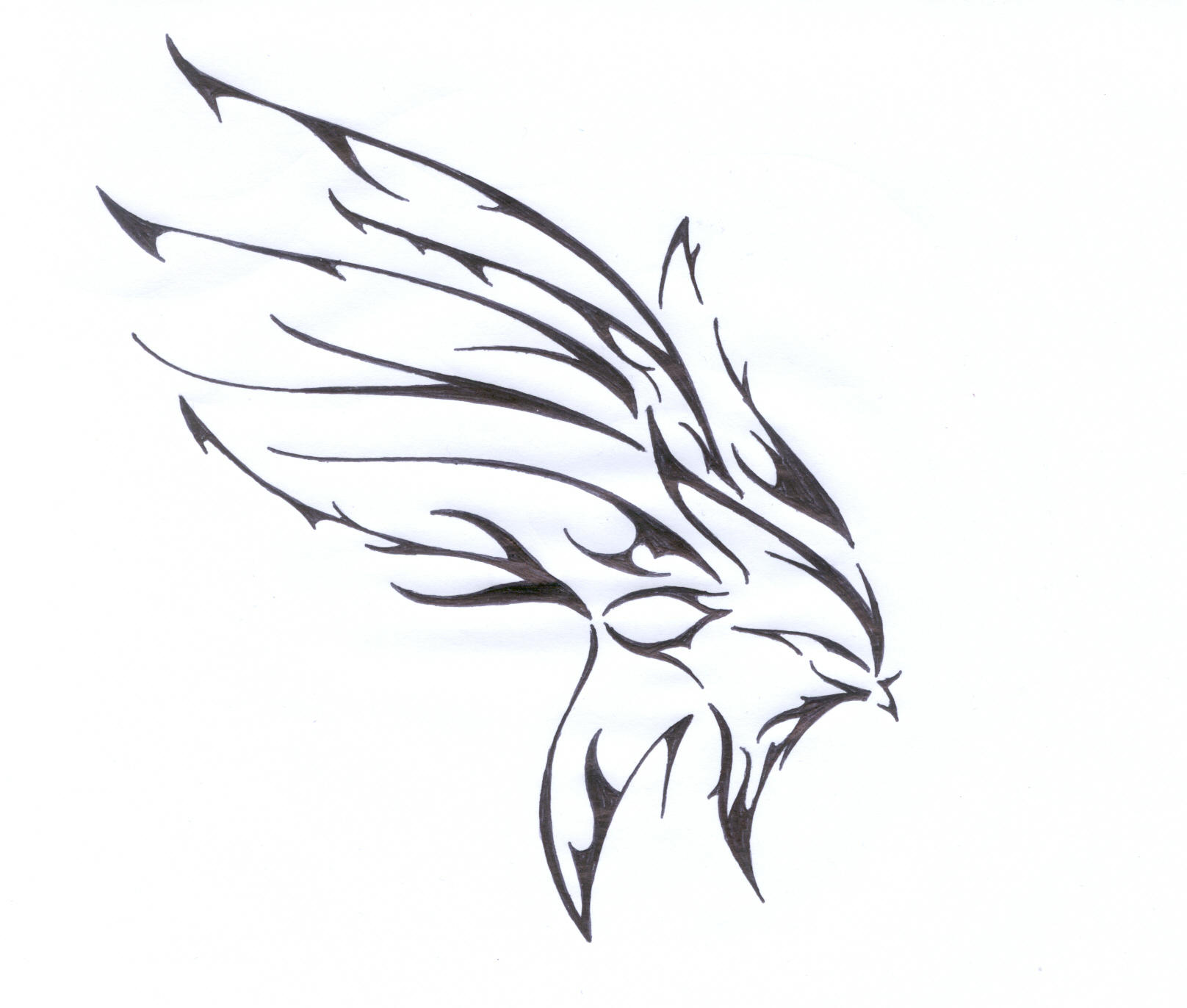 Tribal Wing by flawpunk