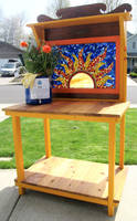Stained Glass Mosaic Sun Bench by reflectionsshattered