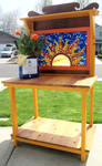 Stained Glass Mosaic Sun Bench