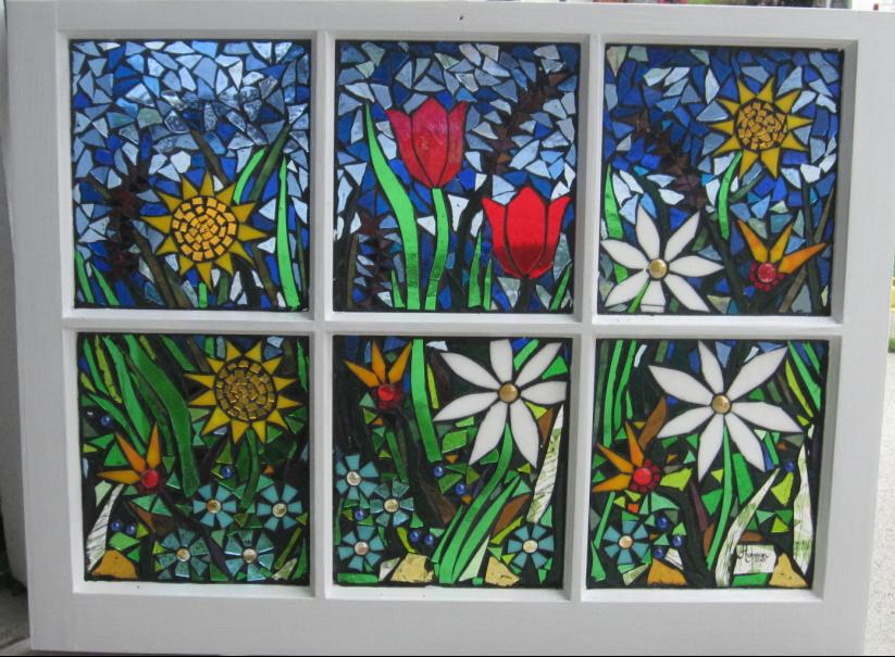 Garden mosaic window two by reflectionsshattered on deviantart for Garden mosaics designs