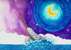 Starry Narwhal by celticsidhe