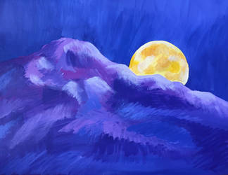 Moon and Mountain