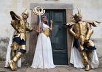 Aphrodite, Deathmask and Athena by Schesta