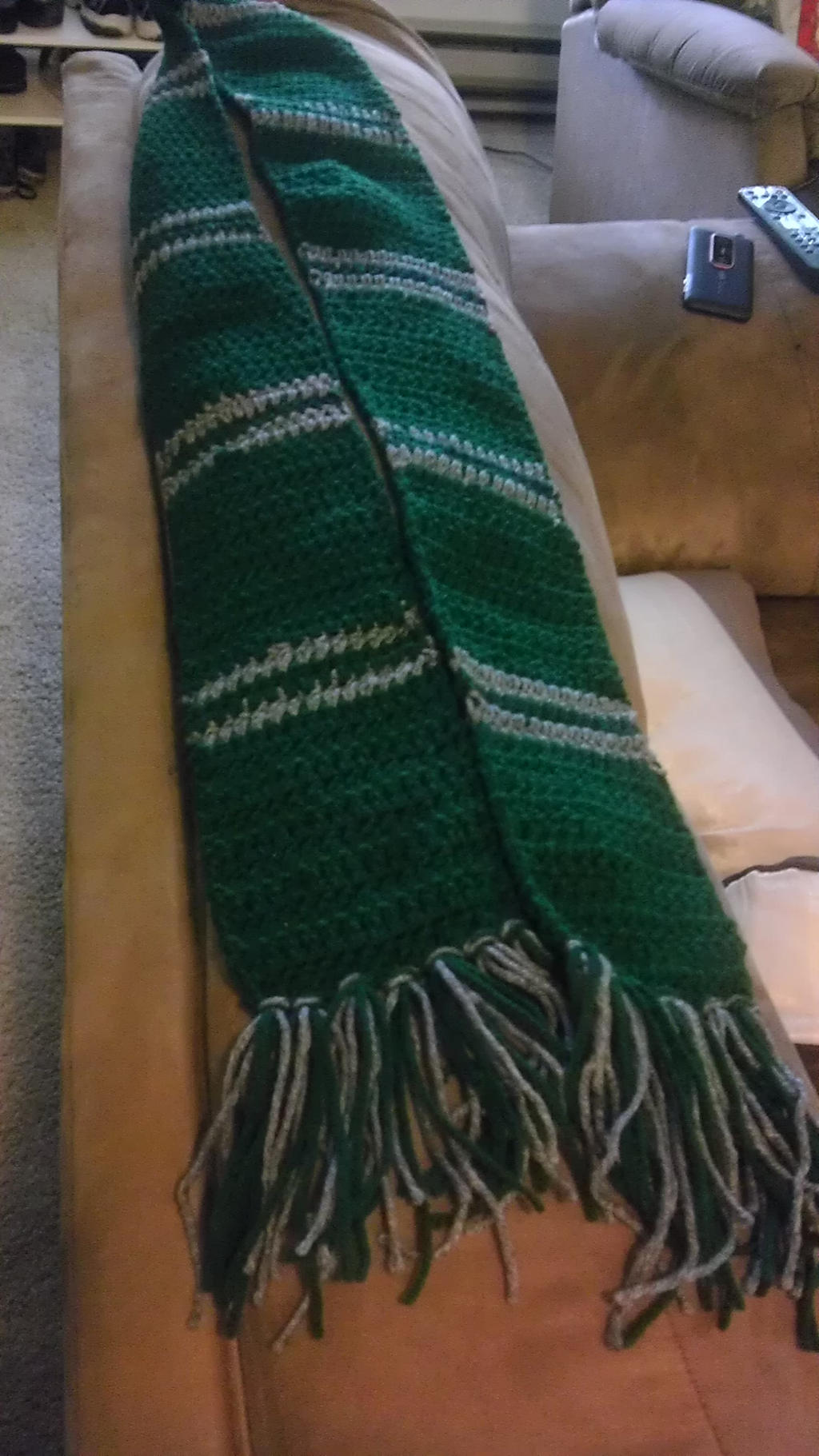 Slytherin House Scarf [First Scarf in Crochet] by Chudames ...