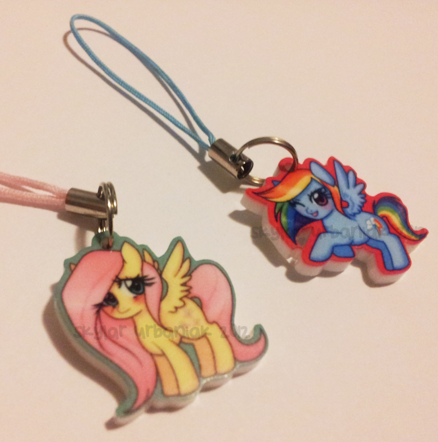 Fluttershy and Dashie Charms by Soul-Soar