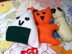 Tohru, Kyo, and Yuki Plush by LuLuBellaCalista