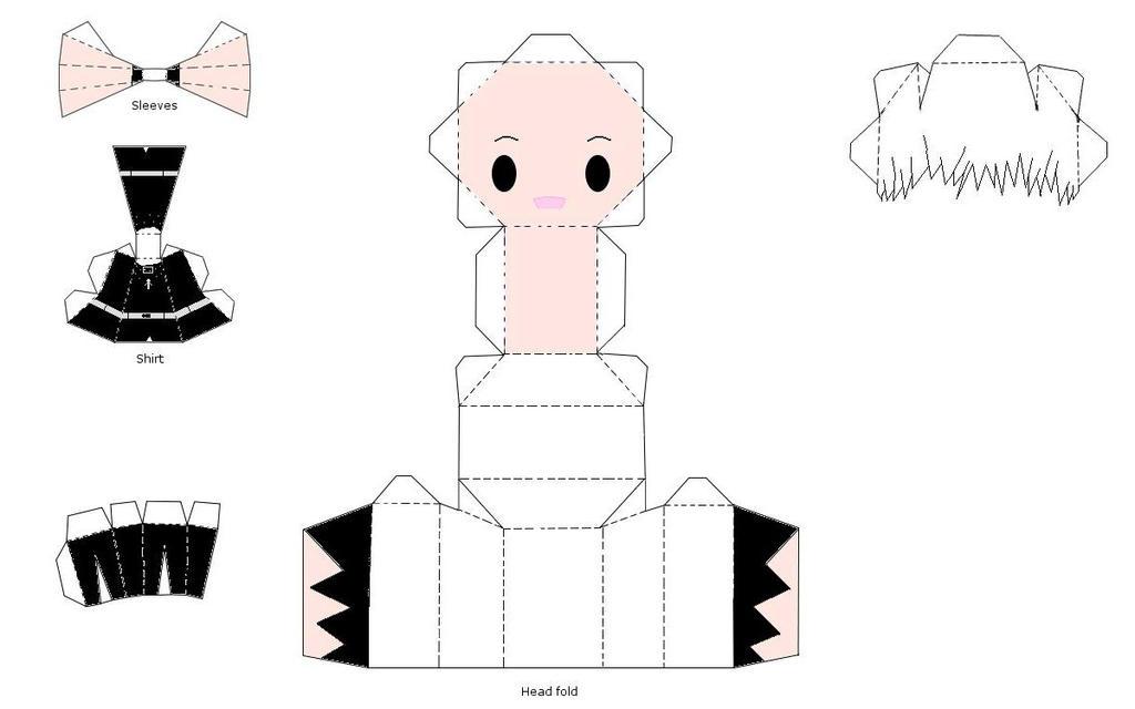 Hatsuharu Papercraft~ by LuLuBellaCalista
