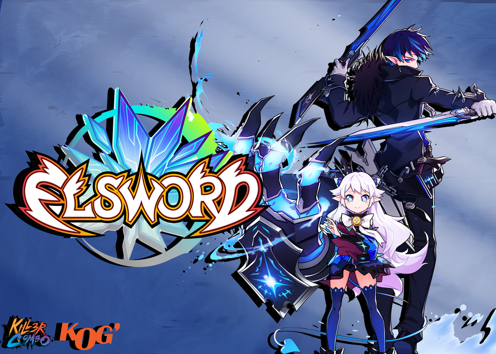 Elsword-Lu and Ciel Wallpaper by TopHatea
